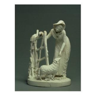 Derby shepherdess, 1790 postcard