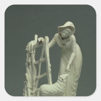 Derby shepherdess, 1790 square stickers