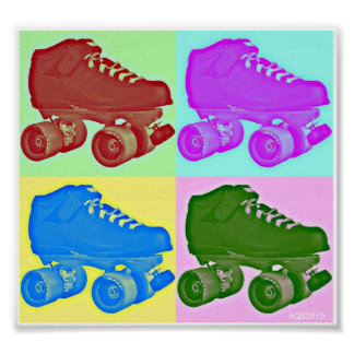Derby Skate Pop Art Poster