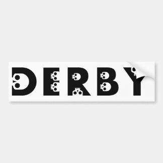 derby : skullphabet bumper sticker