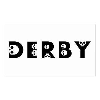 derby : skullphabet business card