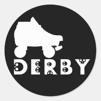 derby : skullphabet classic round sticker