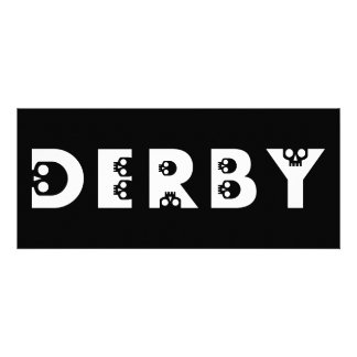 derby skullphabet personalized invitations