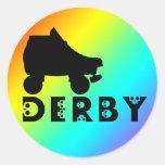 derby: skullphabet pegatina redonda