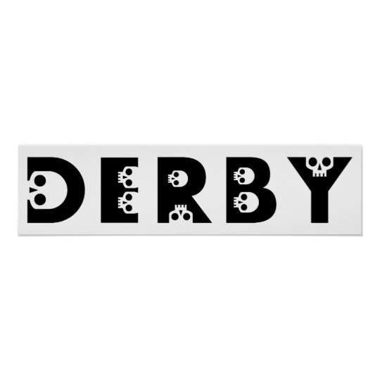 derby : skullphabet poster