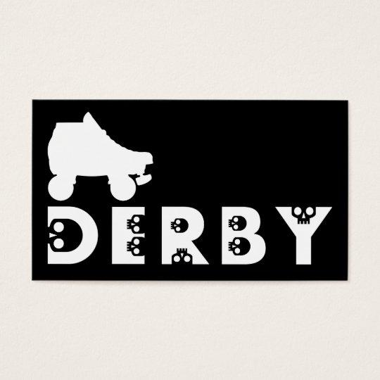 derby : skullphabet skate business card