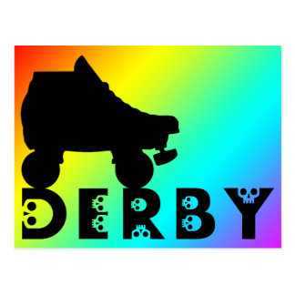 derby: skullphabet tarjeta postal