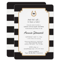 Derby Style Baby Shower Invitation Horseshoe