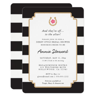 Derby Style Bridal Shower Invitation Horseshoe