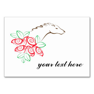 Derby Table Tent Card