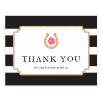 Derby Thank You Postcard Notes Bridal Shower