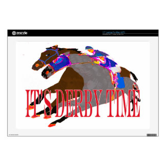 "derby time 2016 Horse Racing 17"" Laptop Skin"