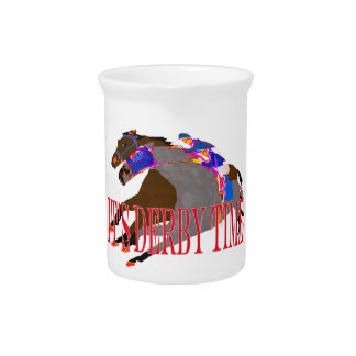 derby time 2016 Horse Racing Beverage Pitcher