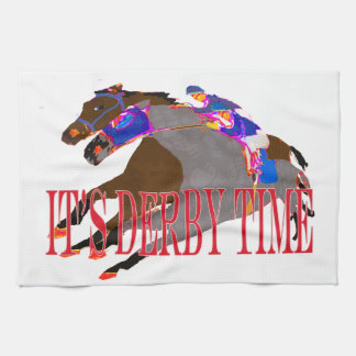 derby time 2016 Horse Racing Hand Towel