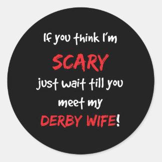 Derby Wife Classic Round Sticker