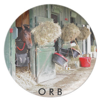 "Derby winner ""Orb"" as a 2 yr. old Dinner Plate"