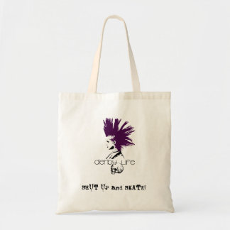 derbylife, SHUT UP and SKATE!, roller derby Tote Bag