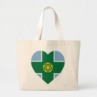 Derbyshire Flag Heart Bags