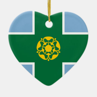 Derbyshire Flag Heart Ornaments