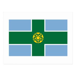 Derbyshire Flag Postcard