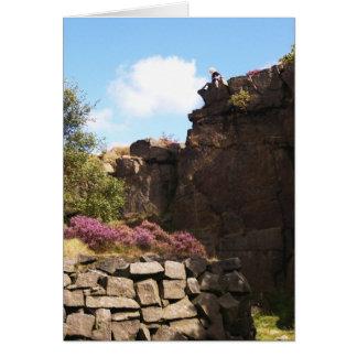 Derbyshire hermosa en gloria completa tarjeta de felicitación