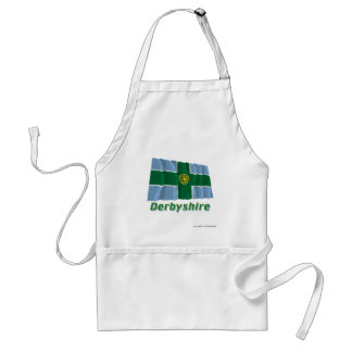 Derbyshire Waving Flag with Name Adult Apron