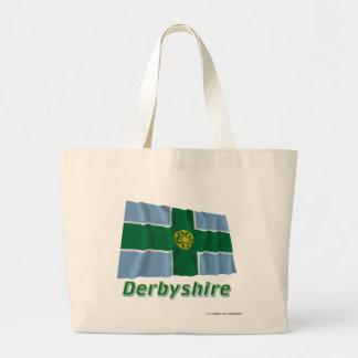 Derbyshire Waving Flag with Name Bag