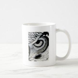 Derecho 2 del ojo del búho de 2 taza de café