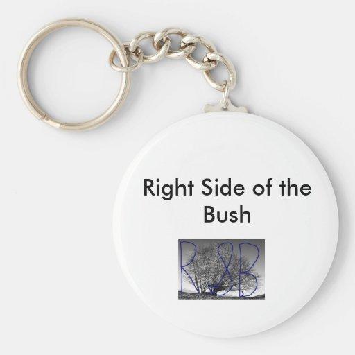 Derecho de Bush Llavero Personalizado
