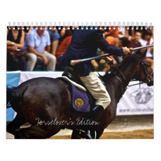 Derecho de la boca del caballo calendarios