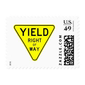 derecho de paso de la producción sello