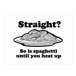 ¿DERECHO? Está tan el espagueti Tarjeta Postal