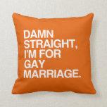 DERECHO estoy PARA EL MATRIMONIO HOMOSEXUAL Almohadas