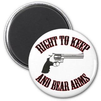 Derecho guardar y llevar el revólver de los brazos imán redondo 5 cm