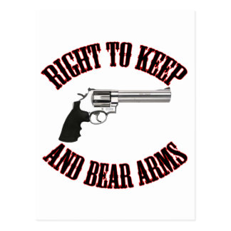 Derecho guardar y llevar el revólver de los brazos tarjetas postales