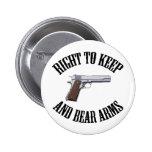Derecho guardar y llevar los brazos 1911 pin