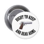 Derecho guardar y llevar los brazos 1911 pins
