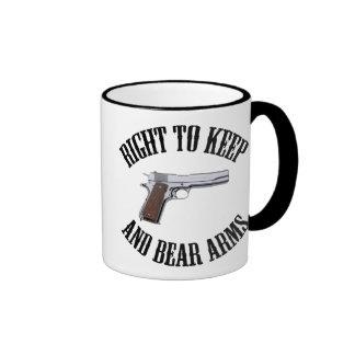 Derecho guardar y llevar los brazos 1911 tazas de café