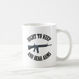 Derecho guardar y llevar los brazos AR-15 Tazas De Café