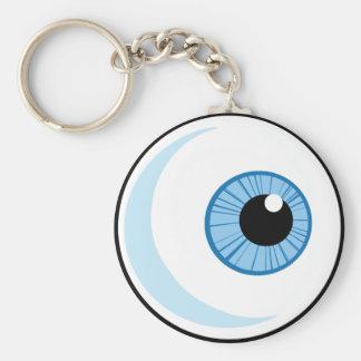 Derecho-Libre-RF-Copyright-seguro-azul-ojo-Ball EY Llavero Redondo Tipo Pin