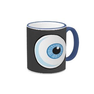 Derecho-Libre-RF-Copyright-seguro-azul-ojo-Ball EY Taza
