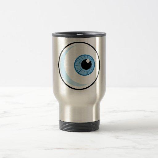 Derecho-Libre-RF-Copyright-seguro-azul-ojo-Ball EY Taza De Viaje De Acero Inoxidable