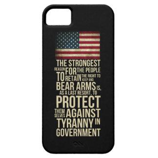 Derecho llevar la cita de Thomas Jefferson de los iPhone 5 Case-Mate Protector