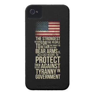 Derecho llevar los brazos - cita de Thomas Jeffers iPhone 4 Case-Mate Protector