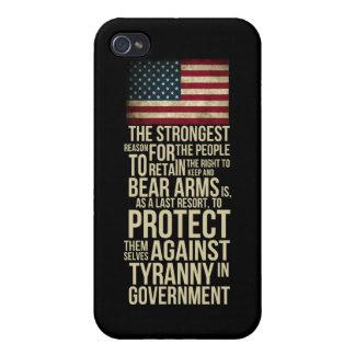 Derecho llevar los brazos - citas de Thomas Jeffer iPhone 4/4S Fundas