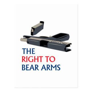 Derecho llevar los brazos postales