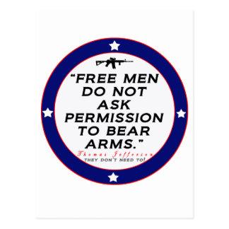 Derecho llevar los brazos postal
