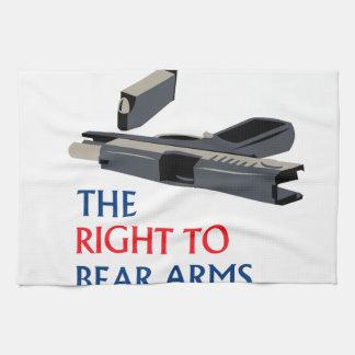 Derecho llevar los brazos toalla de mano
