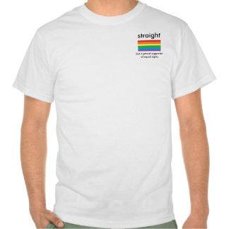Derecho pero de apoyo camiseta