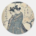 Derecho por Ishikawa, Toyonobu Ukiyoe Pegatina
